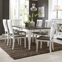 Liberty Furniture Allyson Park 7 Piece Rectangular Table Set  - Item Number: 417-DR-7RLS