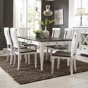 Sarah Randolph Designs Allyson Park 7 Piece Rectangular Table Set  - Item Number: 417-DR-7RLS