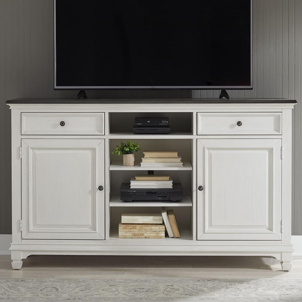 "Allyson Park 68"" Highboy TV Console by Liberty Furniture at Lapeer Furniture & Mattress Center"