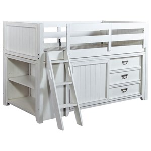 Twin Loft Bed with Bookcase & Dresser