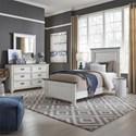 Liberty Furniture Allyson Park Twin Panel Bed, Dresser & Mirror - Item Number: 417-YBR-TPBDM