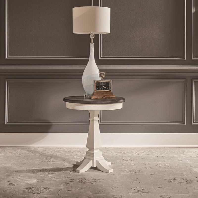 Pedestal Chairside Table