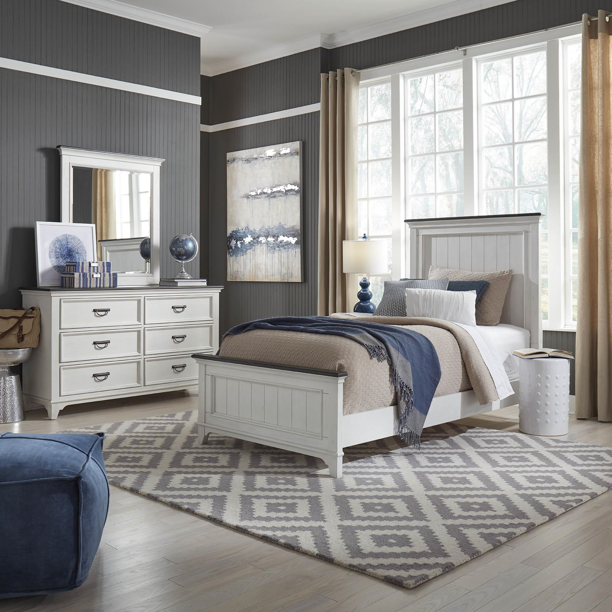 Allyson Park Twin Panel Bed by Liberty Furniture at Darvin Furniture