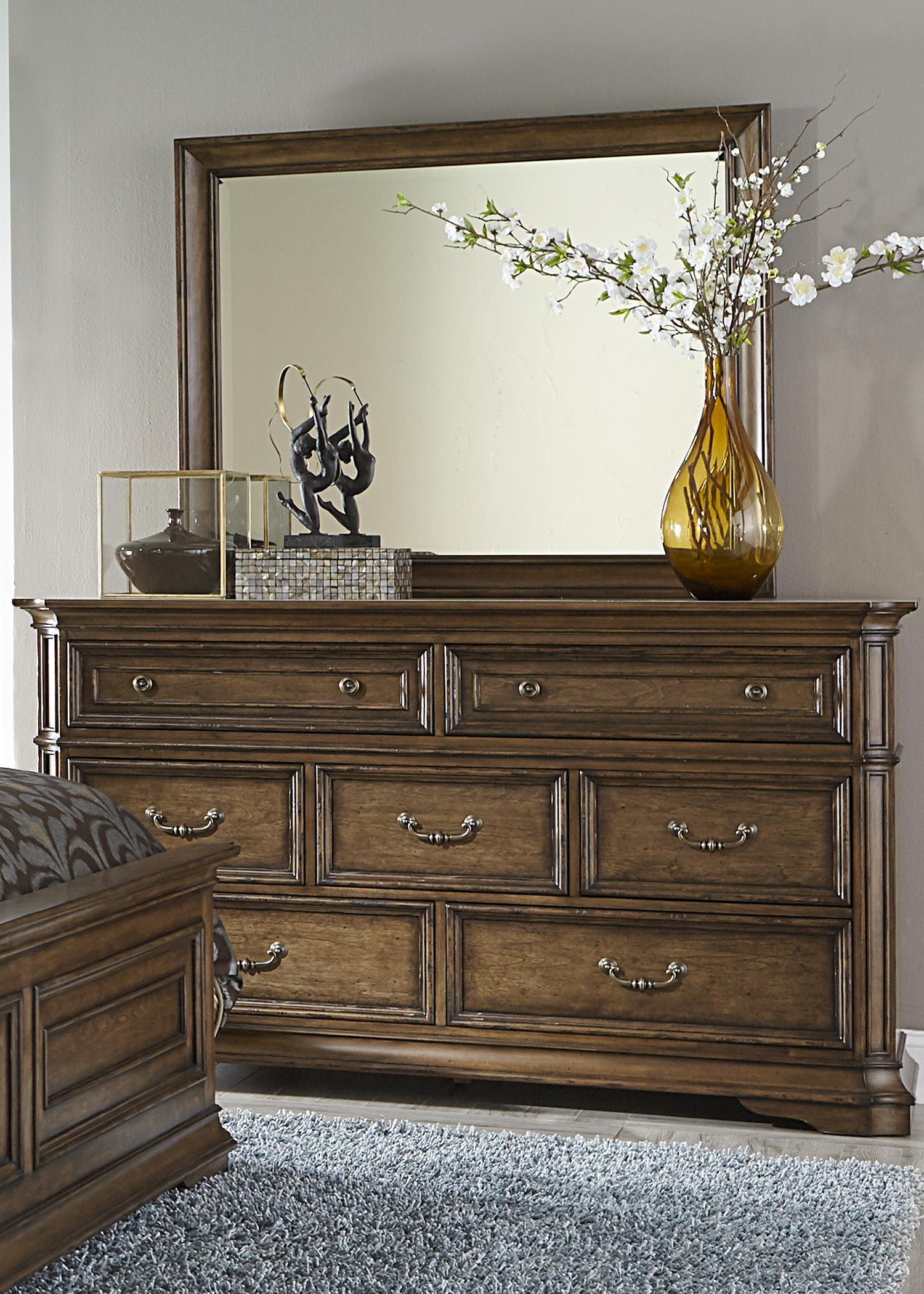 Liberty Furniture Amelia Dresser and Mirror - Item Number: 487-BR-DM