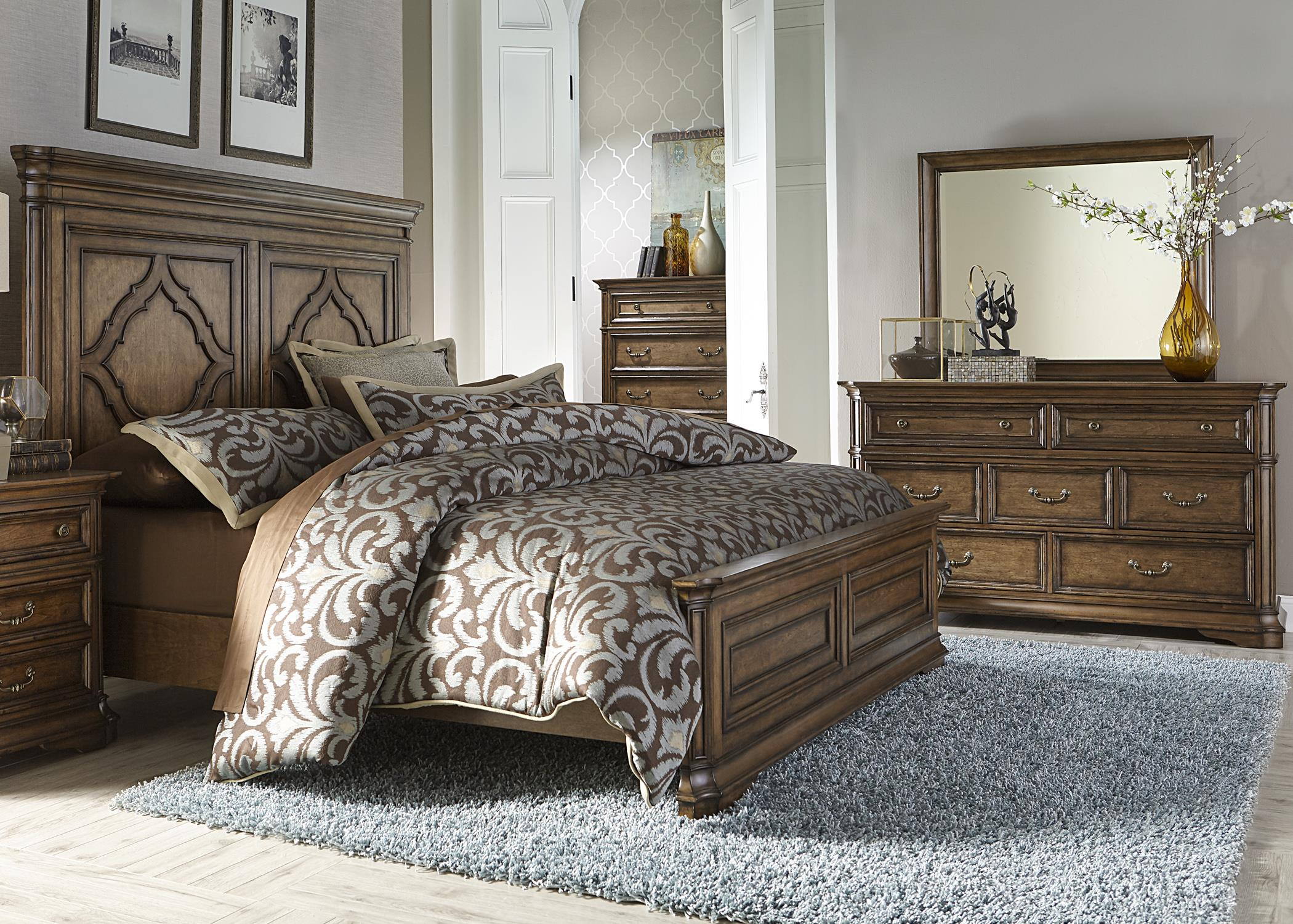 Liberty Furniture Amelia King Bedroom Group - Item Number: 487-BR-KPBDMC