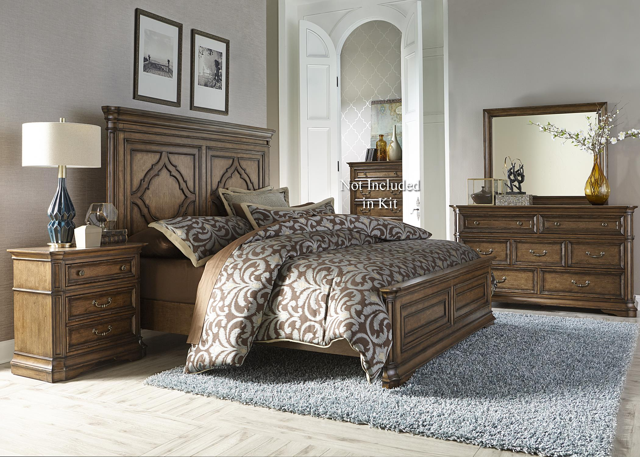 Liberty Furniture Amelia King Bedroom Group - Item Number: 487-BR-KPBDMN