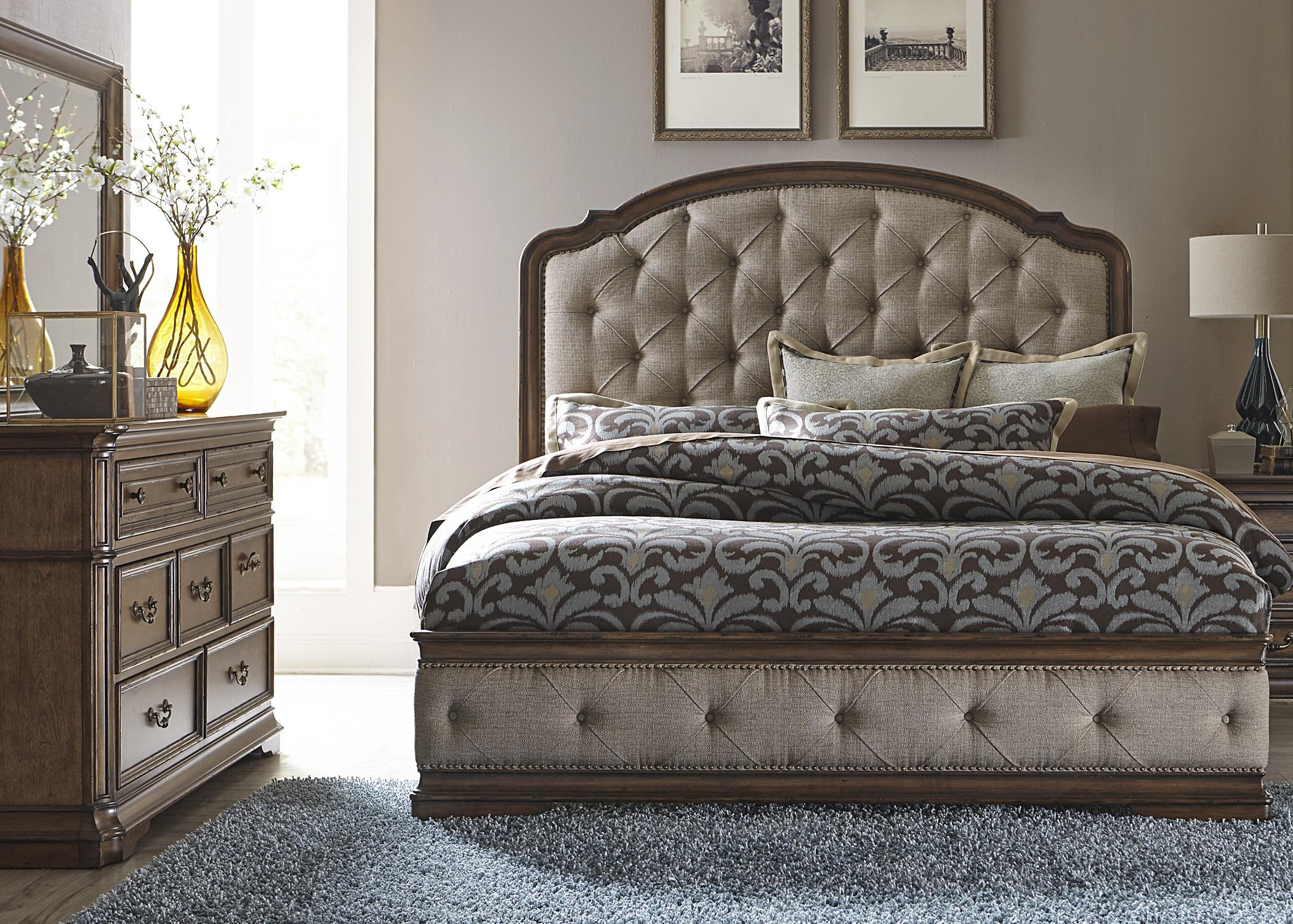Liberty Furniture Amelia King Bedroom Group - Item Number: 487-BR-KUBDM