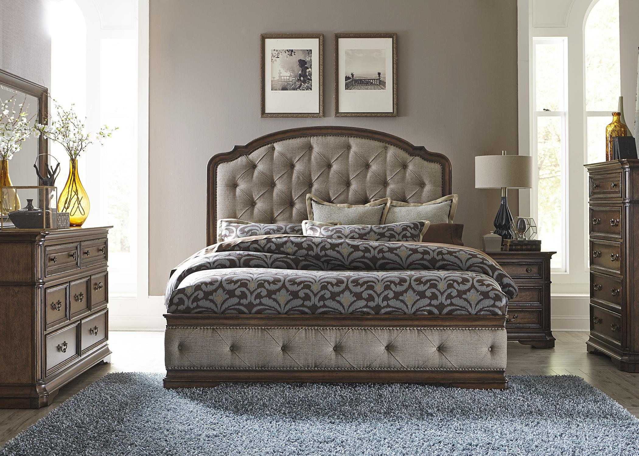 Liberty Furniture Amelia Queen Bedroom Group - Item Number: 487-BR-QUBDMCN
