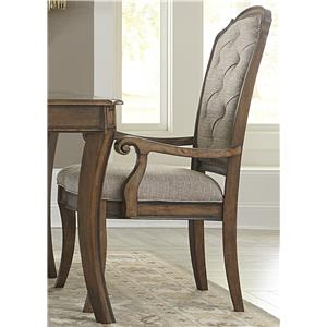 Vendor 5349 Amelia Dining RTA Upholstered Arm Chair