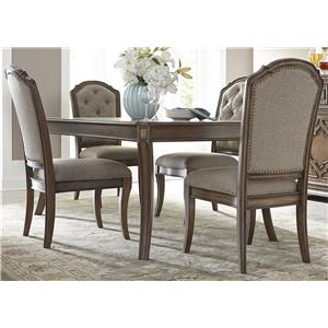 Vendor 5349 Amelia Dining 5 Piece Rectangular Table Set