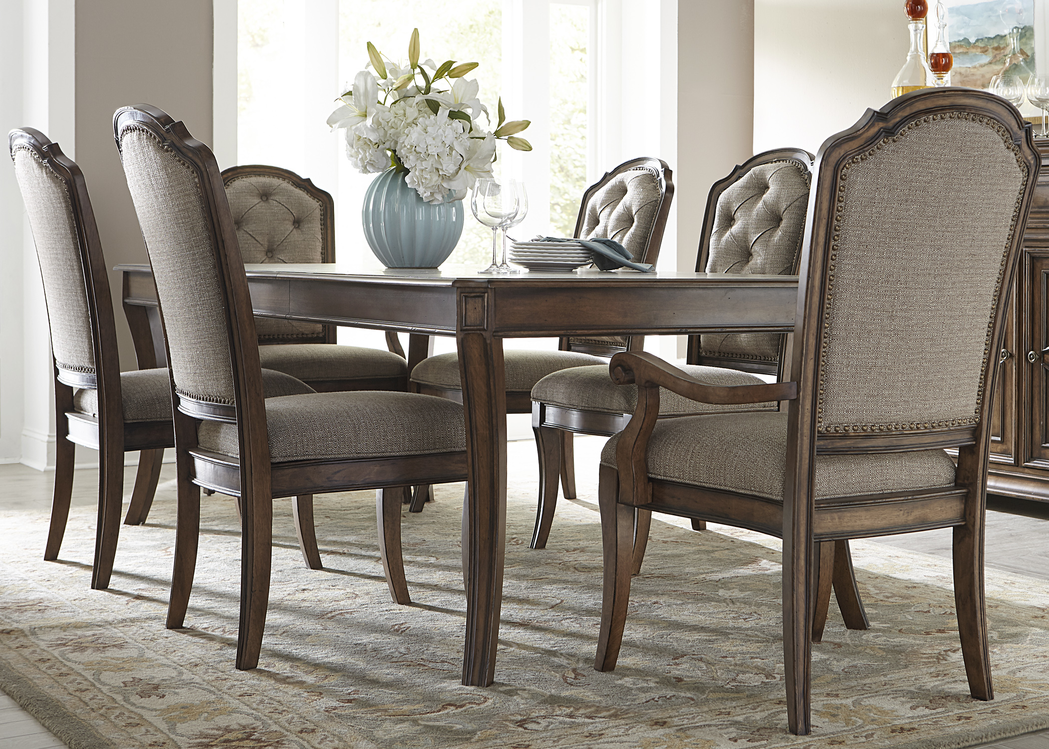 Liberty Furniture Amelia Dining 7 Piece Rectangular Table Set - Item Number: 487-DR-7RLS