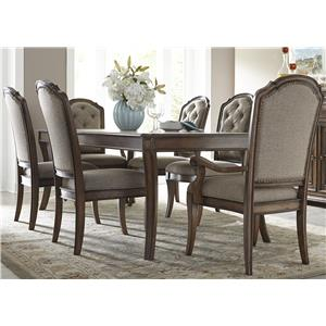 Vendor 5349 Amelia Dining 7 Piece Rectangular Table Set
