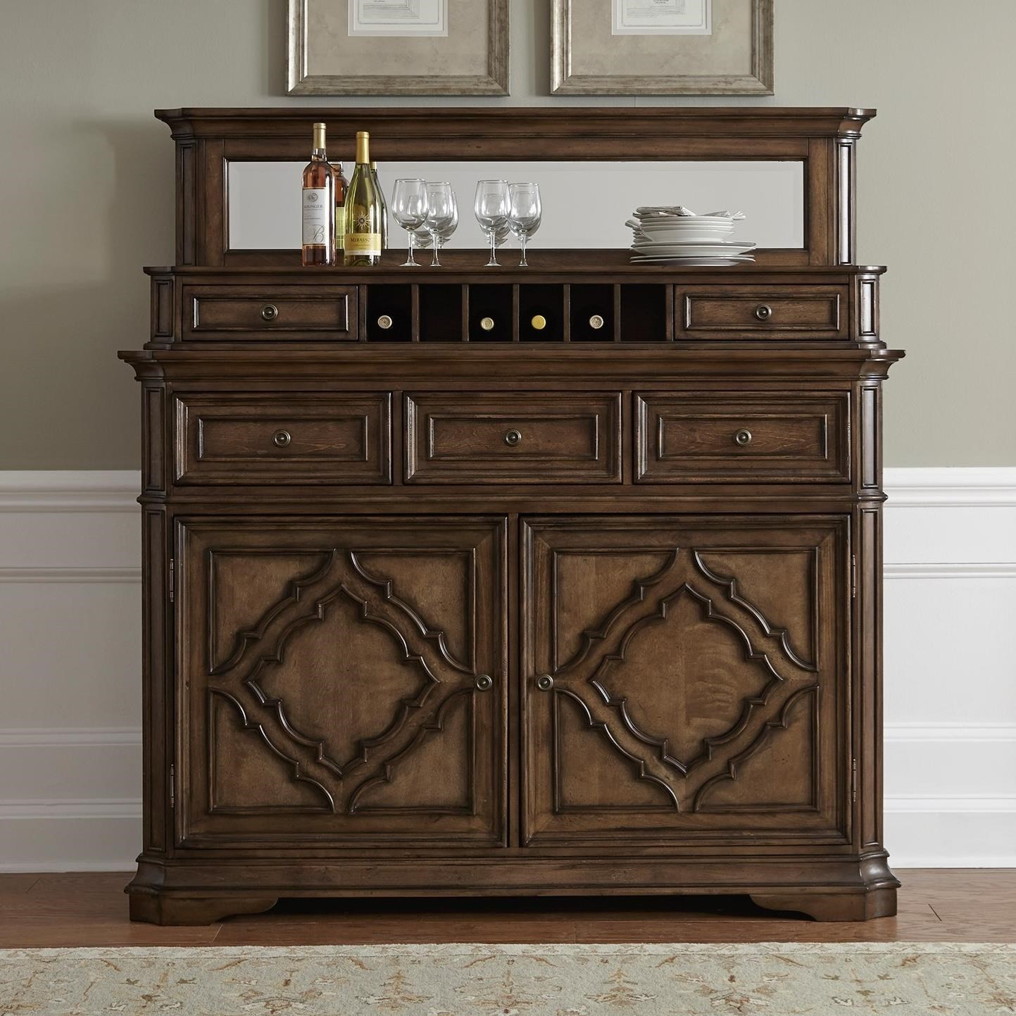 Liberty Furniture Amelia Dining Traditional Server with Hutch - Item Number: 487-DR-SH