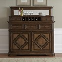 Vendor 5349 Amelia Dining Traditional Server with Hutch - Item Number: 487-DR-SH