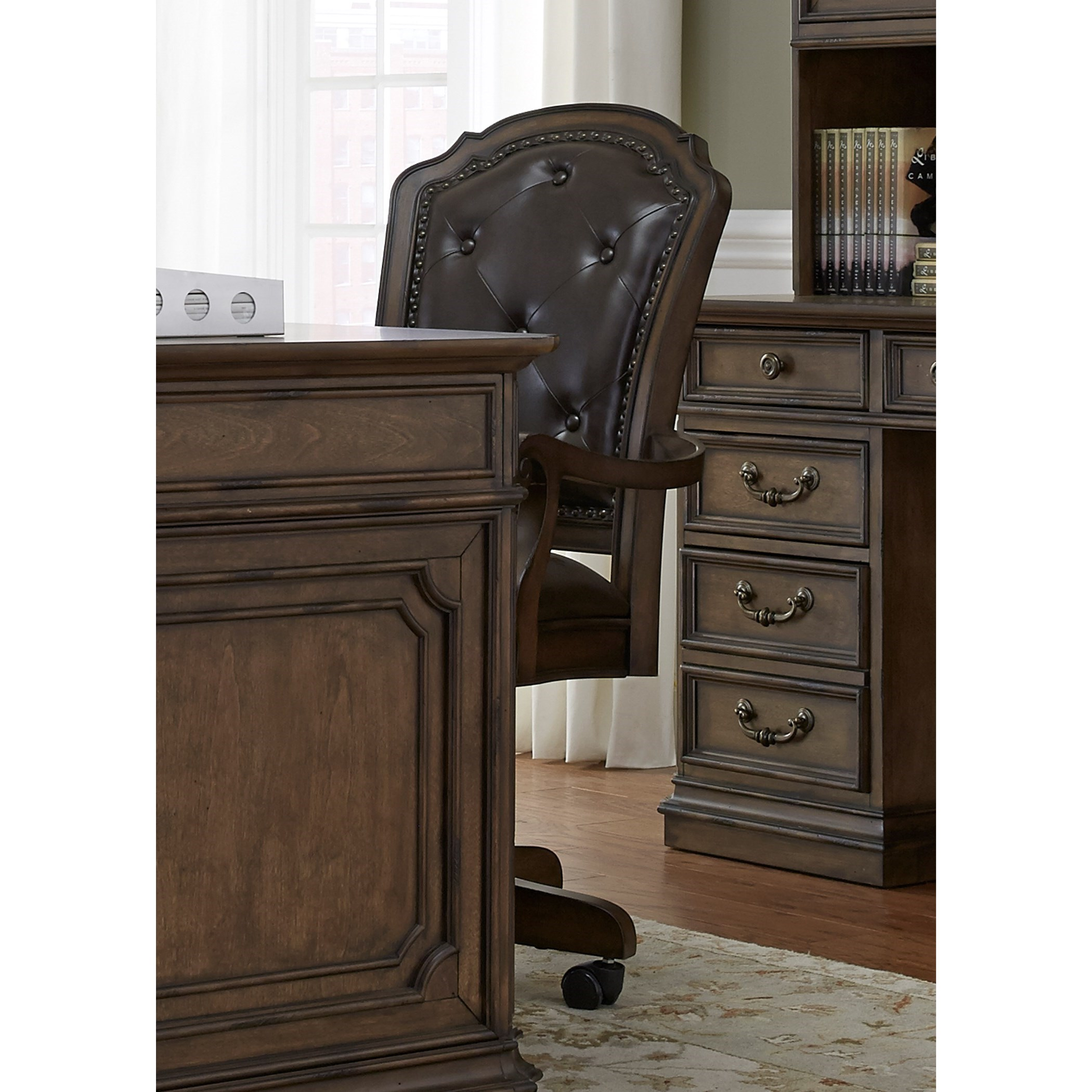 Amelia Home Office Jr Executive Office Chair by Liberty Furniture at Steger's Furniture