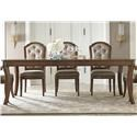 Liberty Furniture Amelia Dining Dining Table & 6 Chairs - Item Number: GRP-487-TBL6SIDES