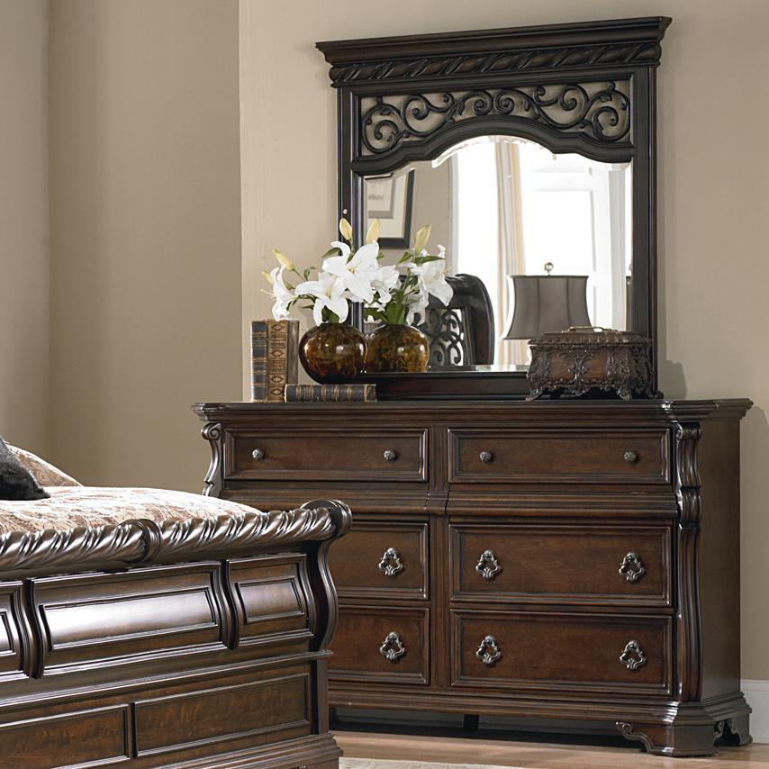Liberty Furniture Arbor Place Dresser and Mirror - Item Number: 575-BR31+51