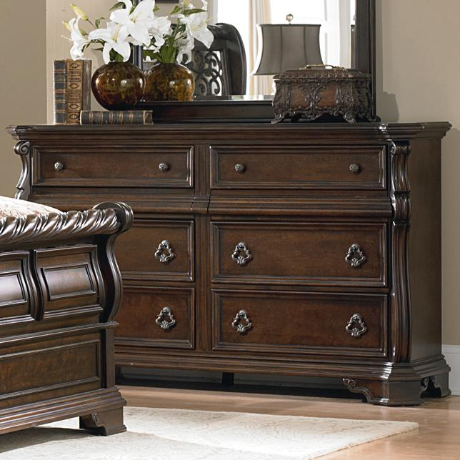 Liberty Furniture Arbor Place 8 Drawer Double Dresser - Item Number: 575-BR31