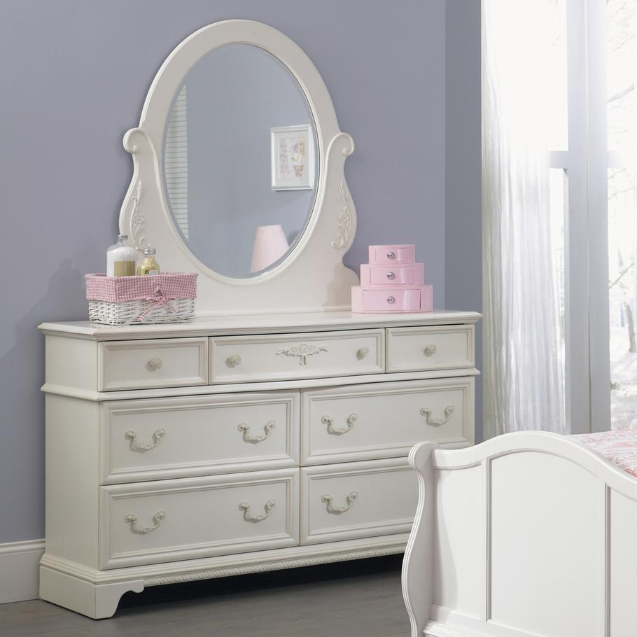 Liberty Furniture Arielle Youth Bedroom Dresser & Mirror - Item Number: 352-YBR-SET50