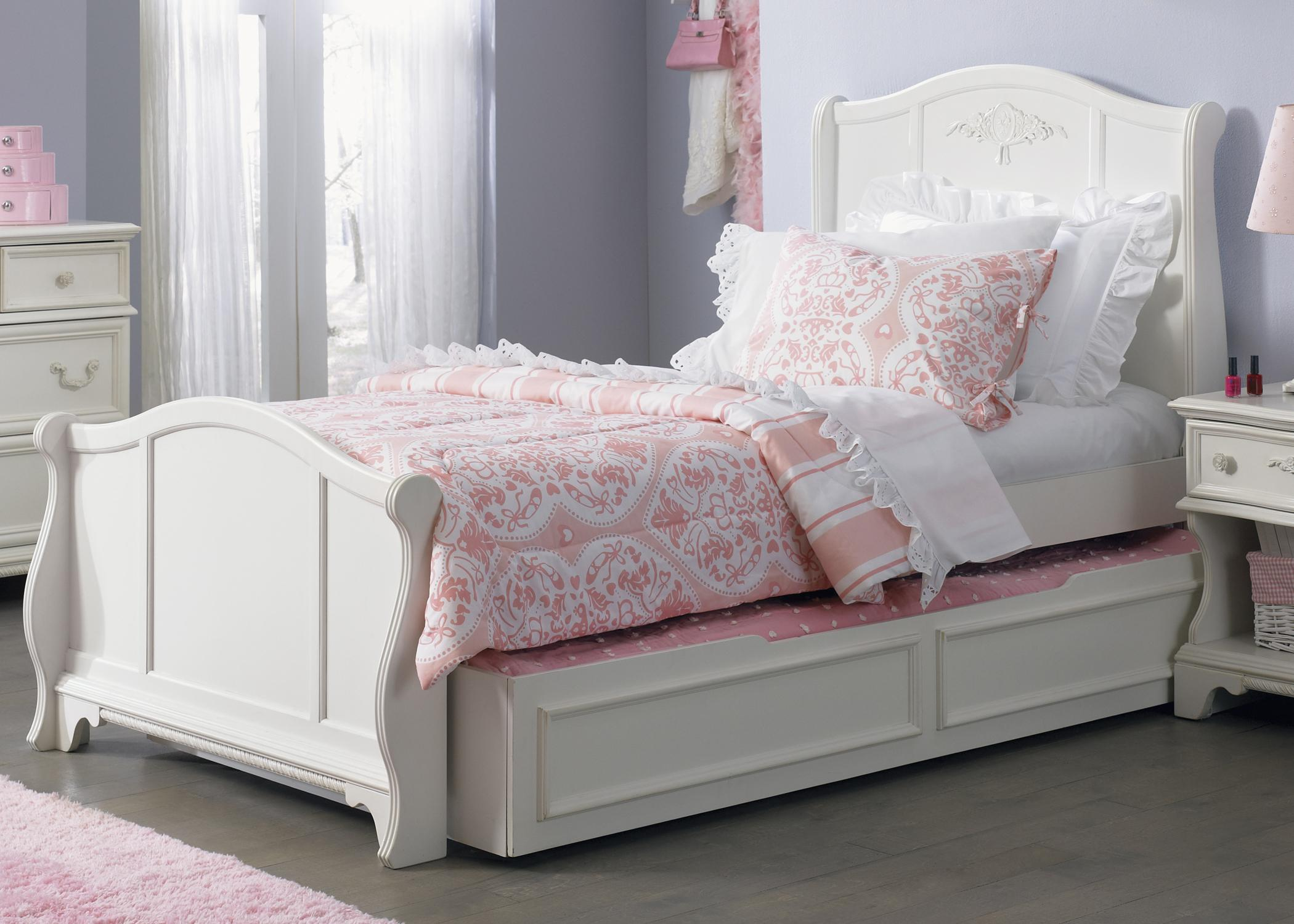 Vendor 5349 Arielle Youth Bedroom Traditional Twin Size Sleigh Bed