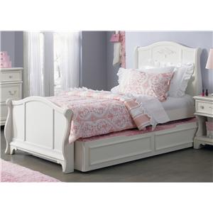 Liberty Furniture Arielle Youth Bedroom Twin Sleigh Bed with Trundle