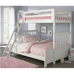 Liberty Furniture Arielle Youth Bedroom Twin Over Twin Bunkbed
