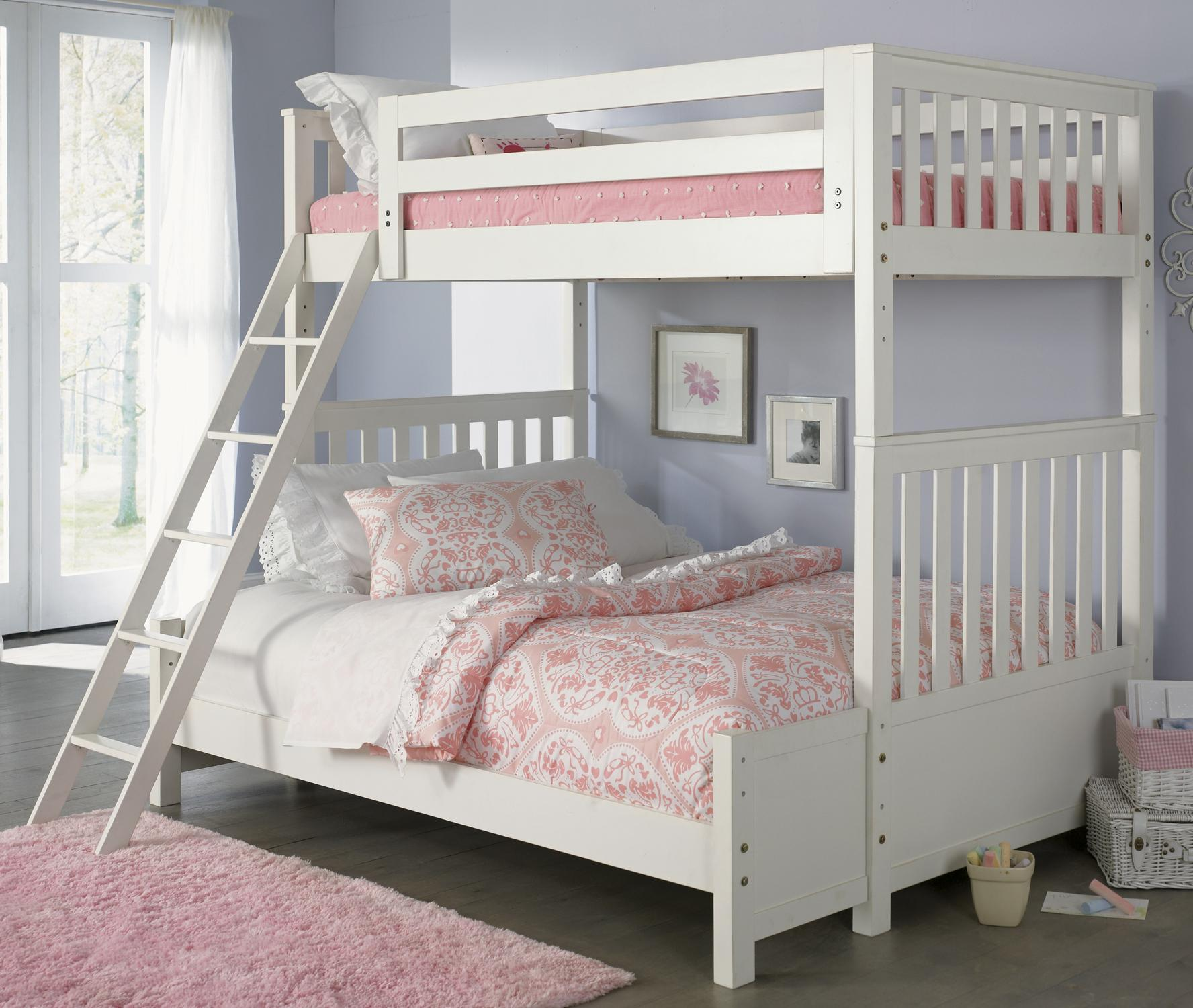 Liberty Furniture Arielle Youth Bedroom Twin Over Full Bunkbed - Item Number: 352-YBUNK-SET204
