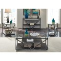 Liberty Furniture Arista Occasional Sofa Table with Glass Top