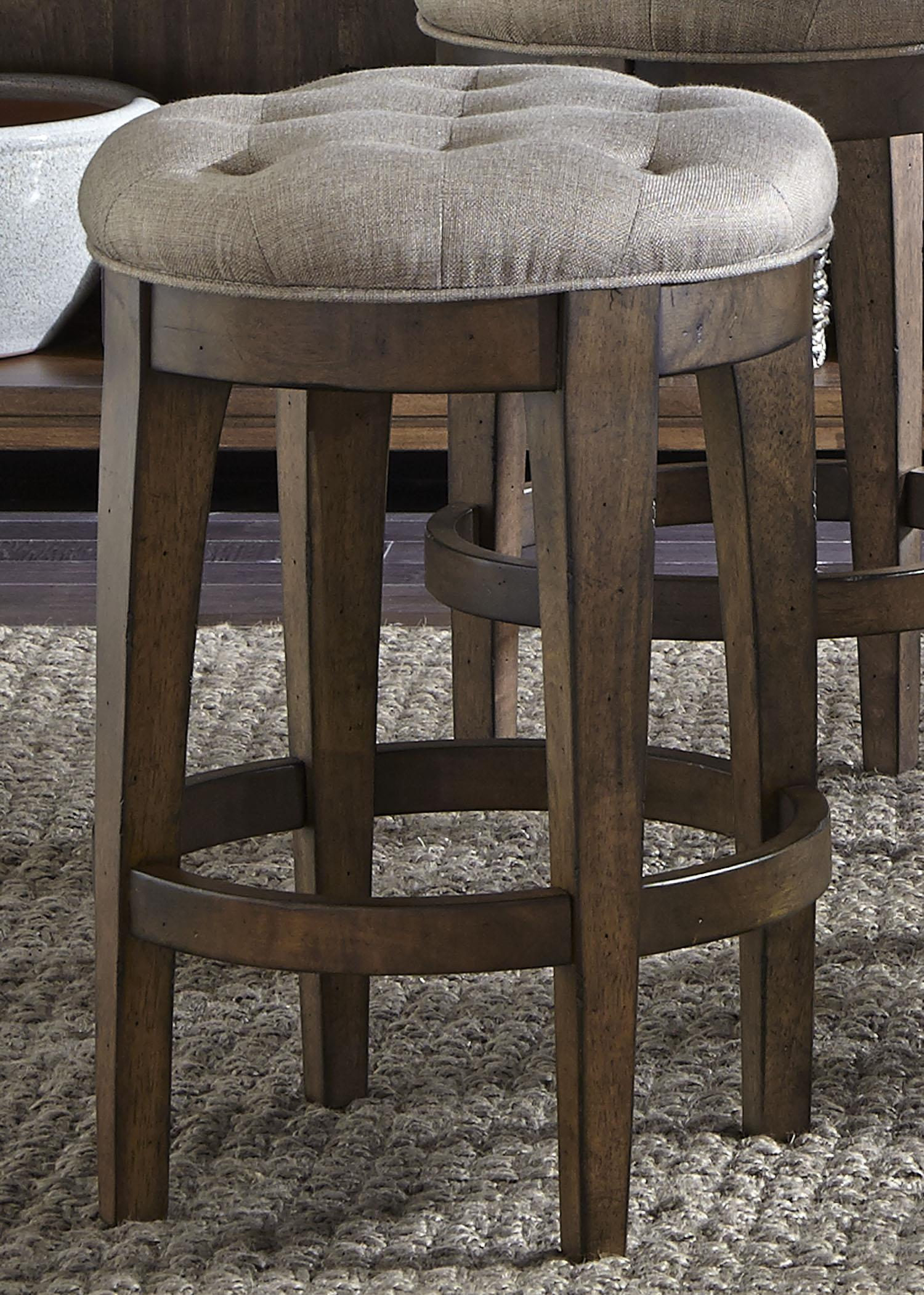 Liberty Furniture Emma Upholstered Backless Barstool - Item Number: 411-B000124