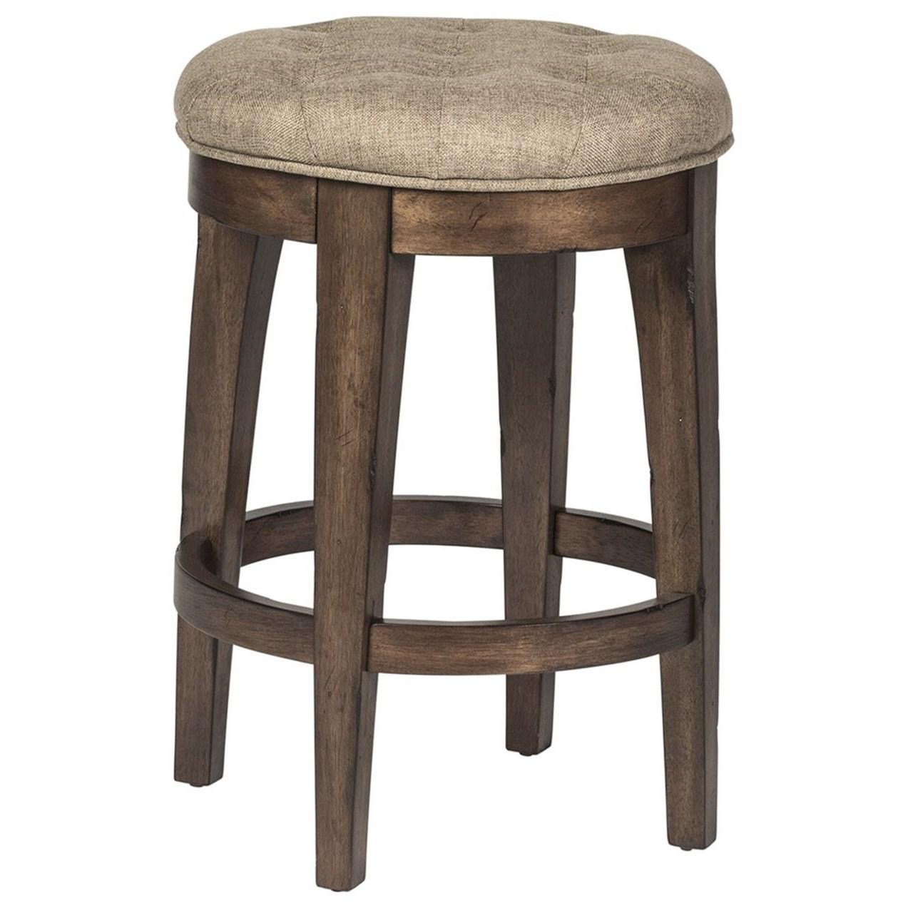 Upholstered Backless Barstool