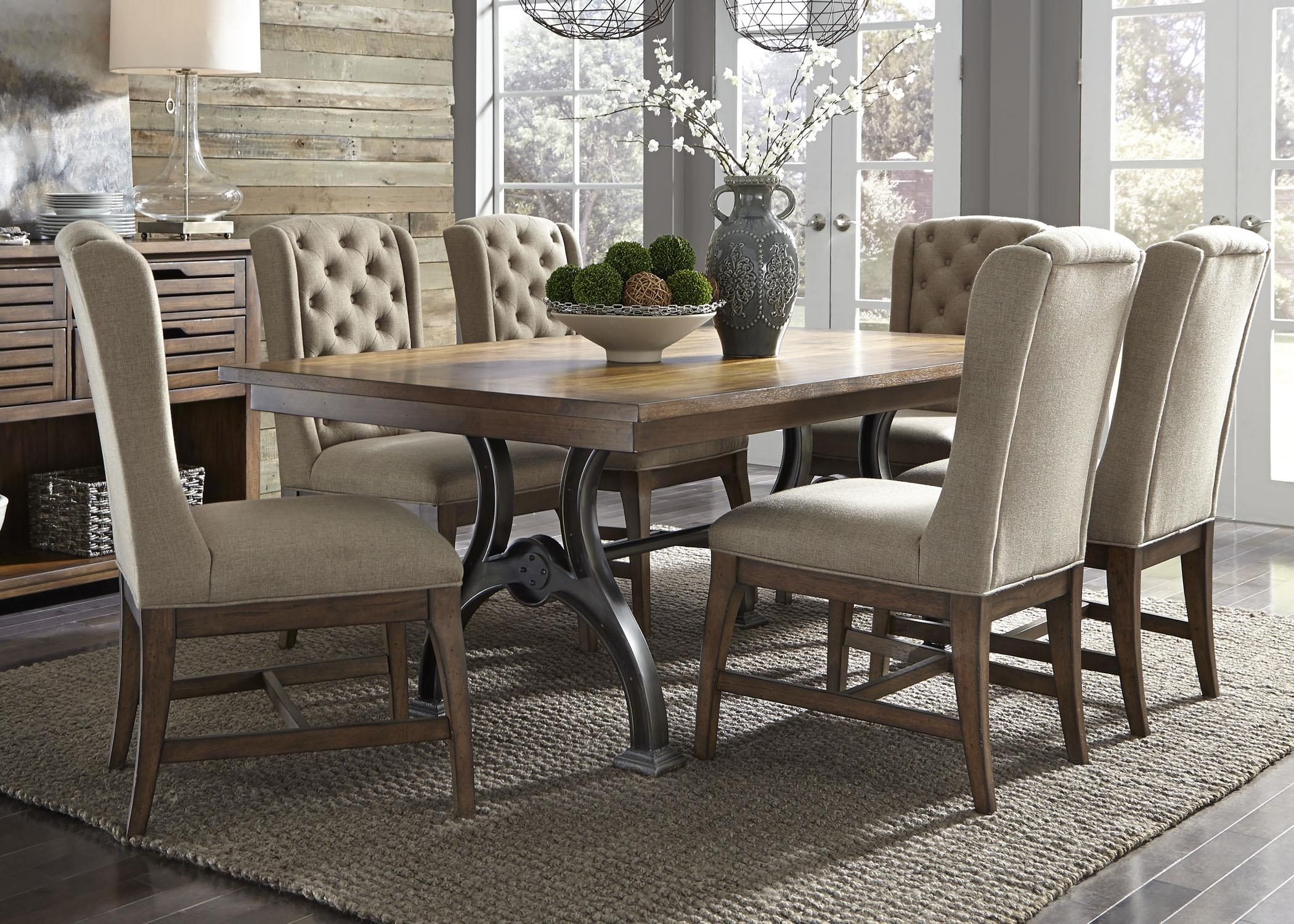 Arlington 7 Piece Trestle Table Set by Liberty Furniture at Catalog Outlet