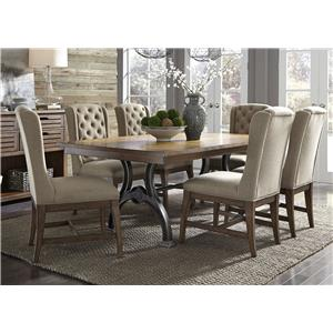 Liberty Furniture Arlington 411 7 Piece Trestle Table Set