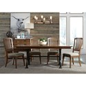 Liberty Furniture Arlington 5 Piece Trestle Table Set  - Item Number: 411-DR-O5TRS