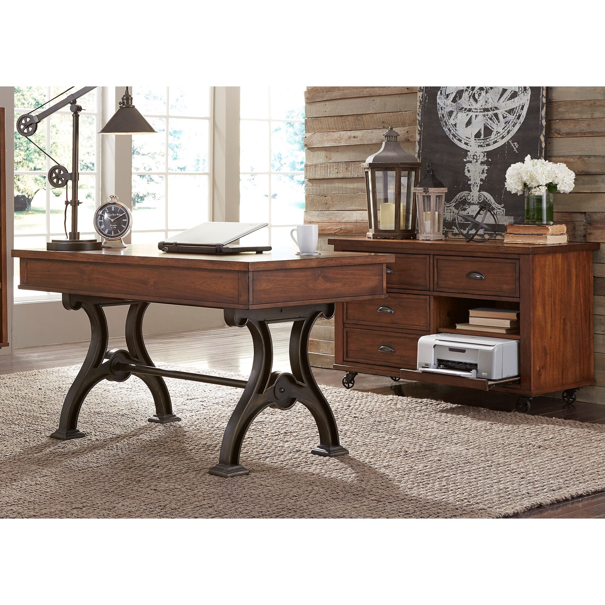 Arlington Desk and Credenza by Liberty Furniture at Catalog Outlet