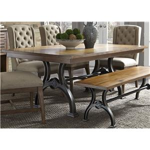 Liberty Furniture Arlington 411 Trestle Table