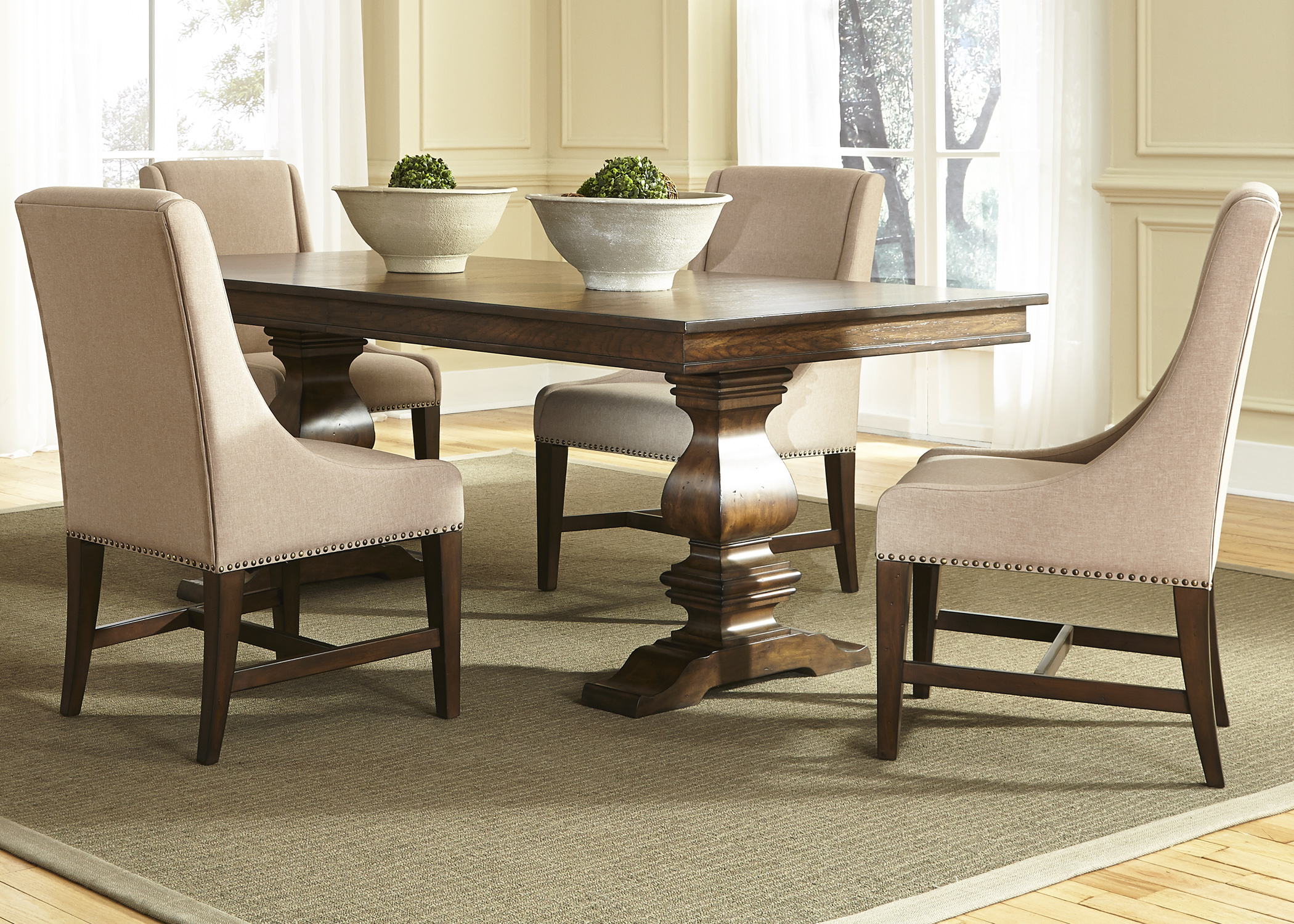 Armand 5 Piece Trestle Table Set by Liberty Furniture at Northeast Factory Direct