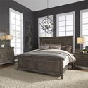 Liberty Furniture Artisan Prairie King Bedroom Group - Item Number: 823-BR-KPBDMN