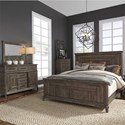Liberty Furniture Artisan Prairie Queen Bedroom Group - Item Number: 823-BR-QPBDMC