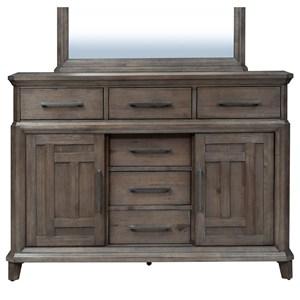 Vendor 5349 Artisan Prairie 6 Drawer 2 Door Dresser