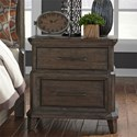 Liberty Furniture Artisan Prairie 2 Drawer Nightstand - Item Number: 823-BR61