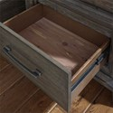 Liberty Furniture Artisan Prairie Transitional 2 Drawer Nightstand with Charging Station