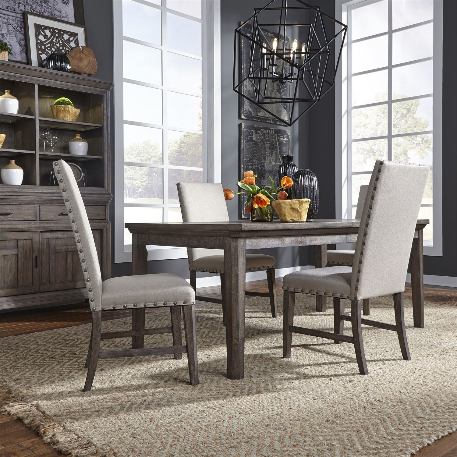 Artisan Prairie 5-Piece Rectangular Table Set by Liberty Furniture at Furniture and ApplianceMart