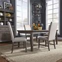 Liberty Furniture Artisan Prairie 5-Piece Rectangular Table Set - Item Number: 823-DR-5RLS