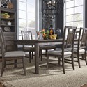 Liberty Furniture Artisan Prairie 7-Piece Rectangular Table Set - Item Number: 823-DR-O7RLS