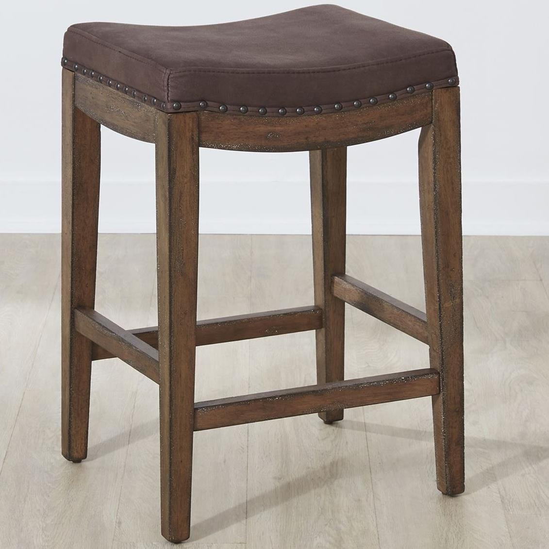 Aspen Skies Upholstered Barstool by Sarah Randolph Designs at Virginia Furniture Market