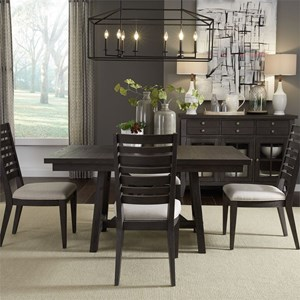 Liberty Furniture Atwood Creek 5 Piece Trestle Table Set