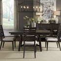 Liberty Furniture Atwood Creek 5 Piece Trestle Table Set  - Item Number: 248-CD-5TRS