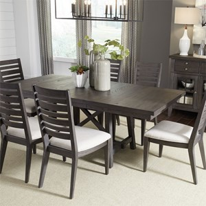 Liberty Furniture Atwood Creek 7 Piece Trestle Table Set