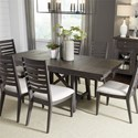 Liberty Furniture Atwood Creek 7 Piece Trestle Table Set  - Item Number: 248-CD-7TRS