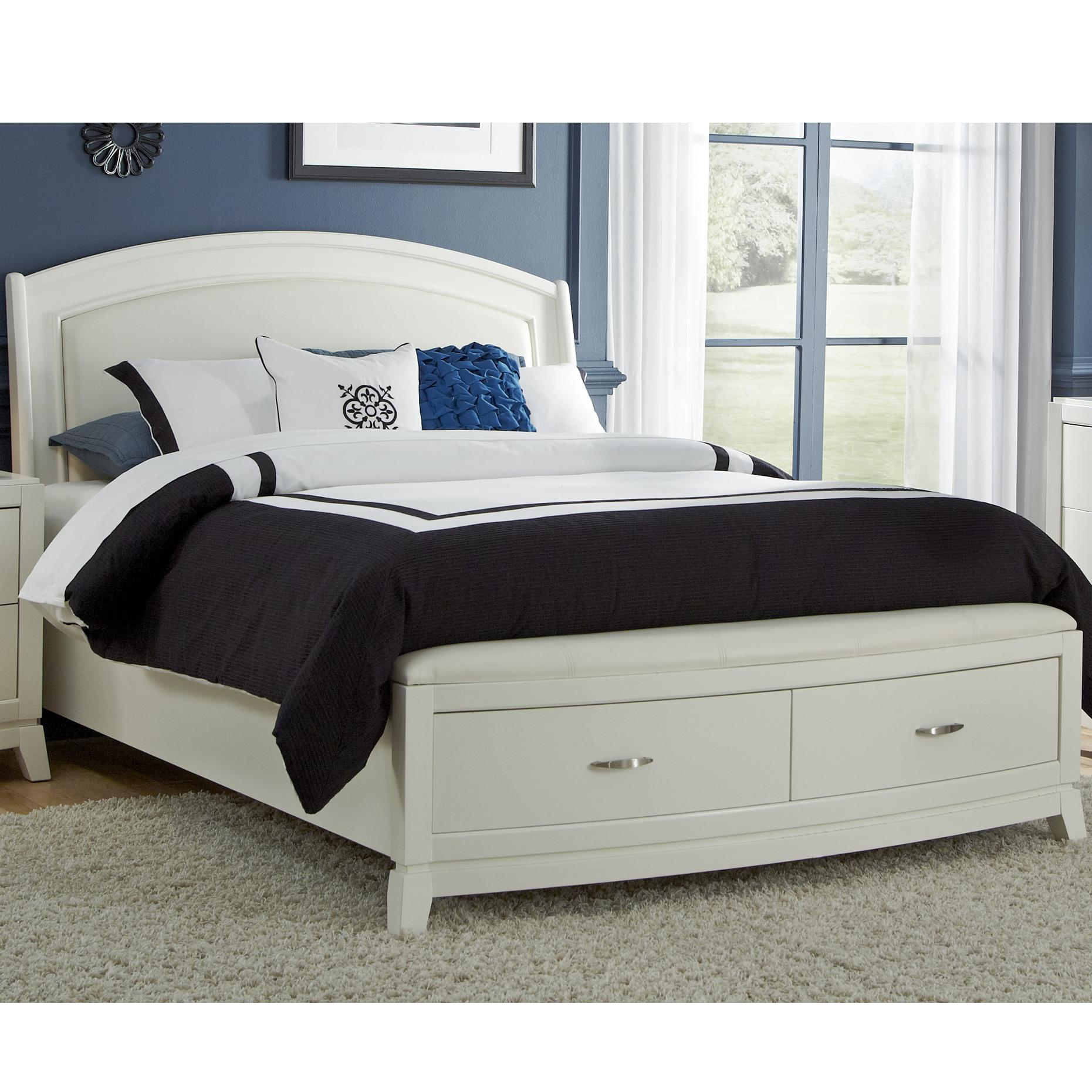 Liberty Furniture Avalon II Leather Queen Platform Bed with Storage - Item Number: 205-BR-QSB